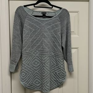 Beautiful Gray and Mint Sweater by New Directions